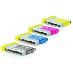 PACK de 5 Brother LC970 2x Noir, Cyan, Magenta, Jaune)